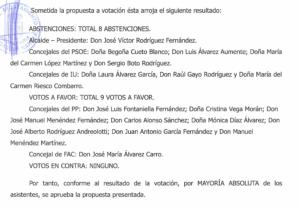 extracto de acta de pleno de 26 de septiembre de 2015